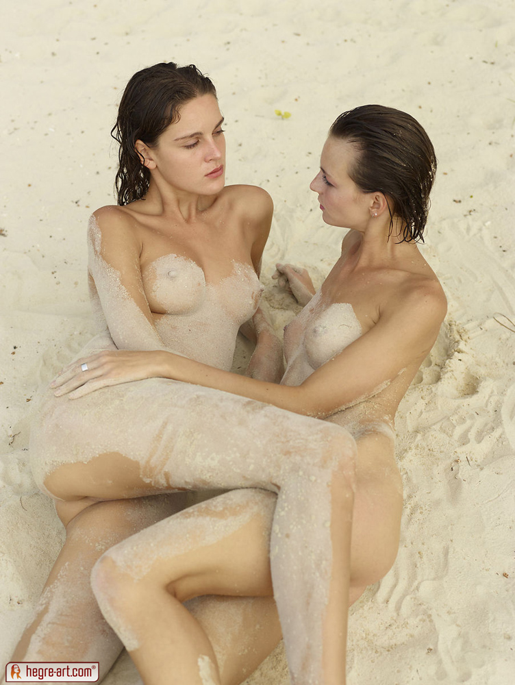 Girls playing together nude