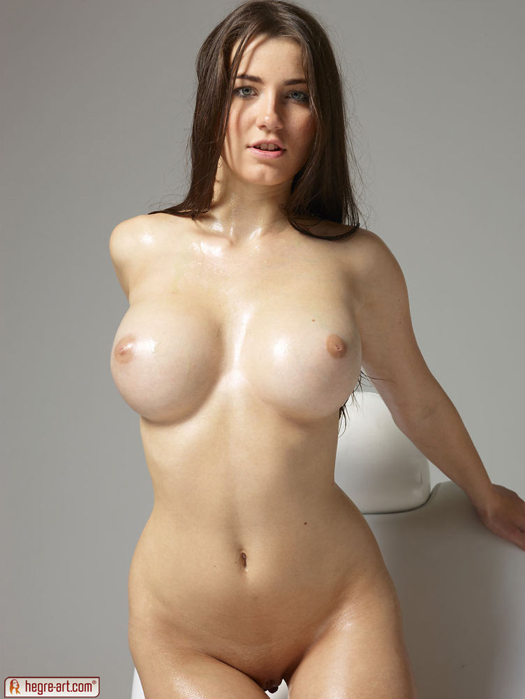 Naked Oiled Boobs